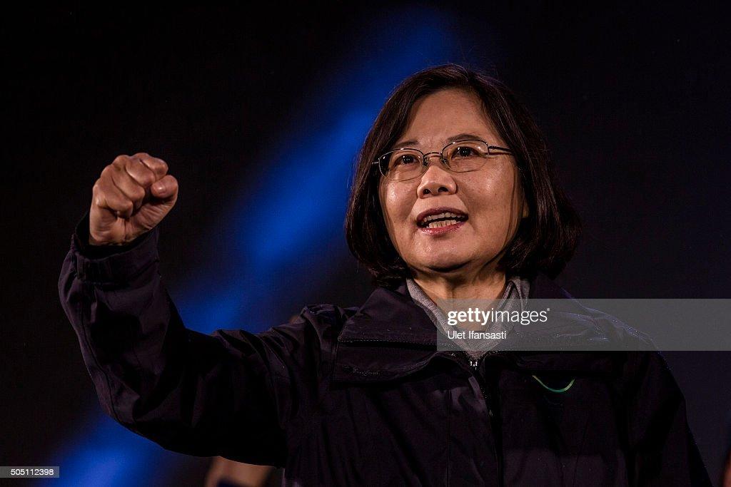 Tsai's Final Rally Ahead Of Taiwan Election