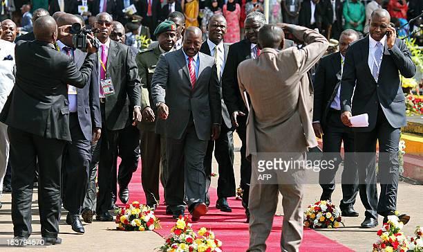 Democratic Republic of Congo President Joseph Kabila attends on October 9 2012 celebrations in Kampala marking Uganda's 50 years of independence...
