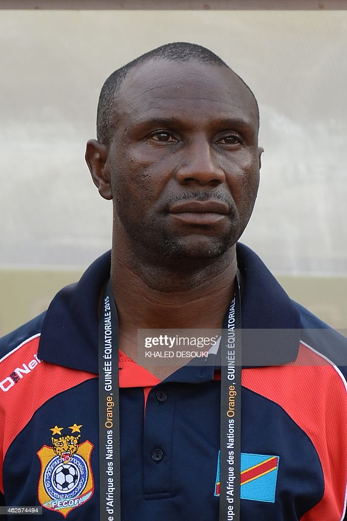 Democratic Republic of the Congo's coach Florent Ibenge attends the 2015 African Cup of Nations quarter final football match between Congo and Republic of the Congo in Bata, on January 31, 2015.