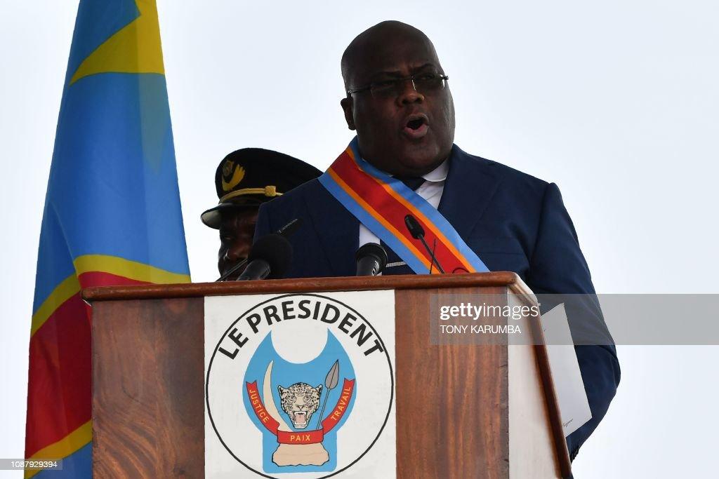 DRCONGO-POLITICS-VOTE-TSHISEKEDI : News Photo