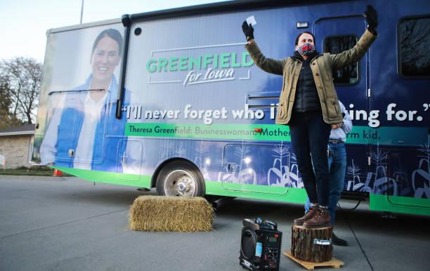 IA: Democratic Senate Candidate Theresa Greenfield Campaigns In Winterset, IA