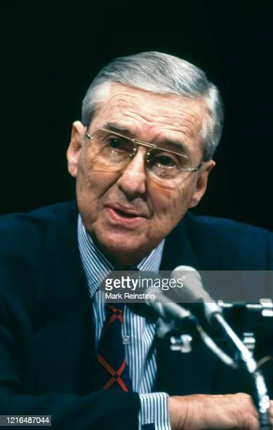 Democratic Senator Lloyd Bentsen of Texas appears before the Senate Finance Committee during his confirmation hearings as President William Clinton's...