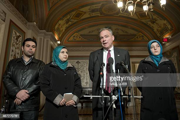 US Democratic Senator Tim Kaine of Virginia chairman of the Senate Foreign Relations Subcommittee on Near Eastern Southern and Central Asian Affairs...