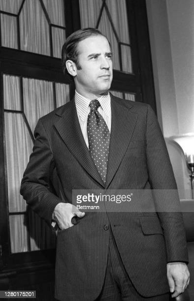 Democratic Senator-elect Joseph Biden, of Delaware is seen here after he took his oath of citizenship as he checks in at the office of the Secretary...