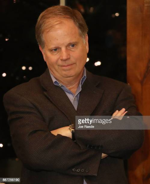 Democratic Senatorial candidate Doug Jones hosts a 'Women's Wednesday' campaign event on December 6 2017 in Cullman Alabama Mr Jones is facing off...