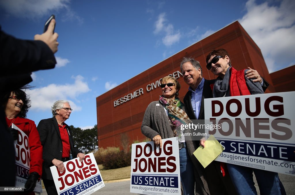 Alabama Senate Candidate Doug Jones Greets Voters On Election Day