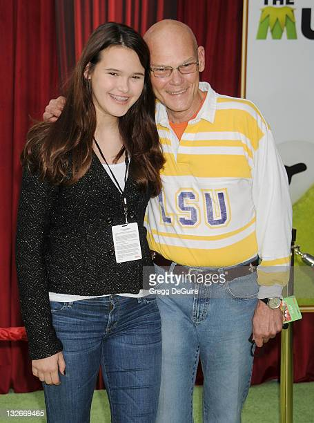 Democratic strategist James Carville and daughter arrive at The Muppets Los Angeles Premiere at the El Capitan Theatre on November 12 2011 in...