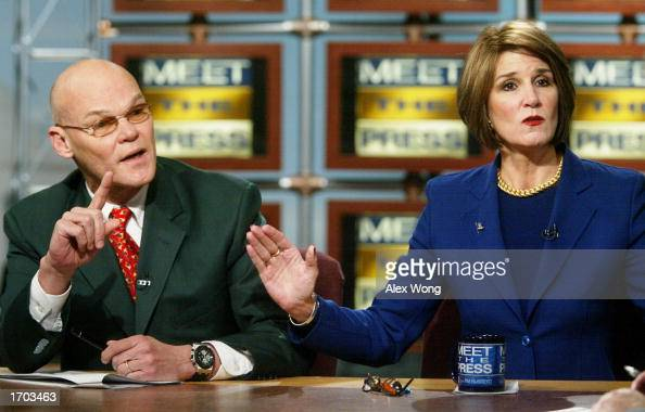 Democratic strategist James Carville argues with his wife ...