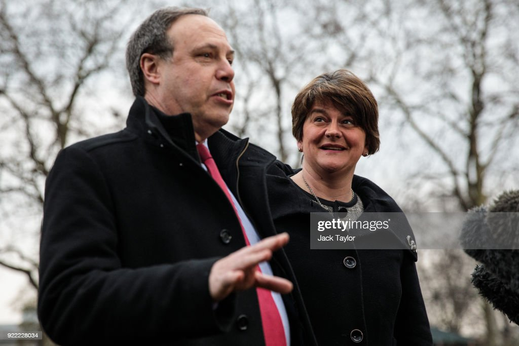 Sinn Fein And The DUP Meet British Prime Minister In London After Power-sharing Talks Fail : News Photo