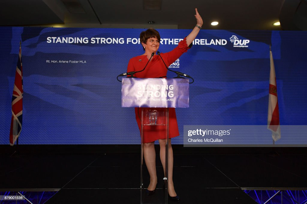 DUP Leader Arlene Foster Gives Her Keynote Speech At The Party Conference