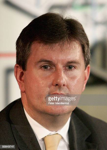 Democratic Unionist Party Member of Parliament Jeffrey Donaldson is seen at a fringe meeting on October 4 2005 in Blackpool England The opposition...
