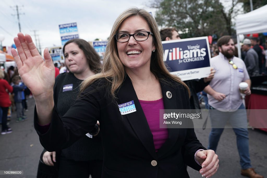 Candidates For Virginia House Of Representatives Campaign Ahead Of Midterm Elections : News Photo