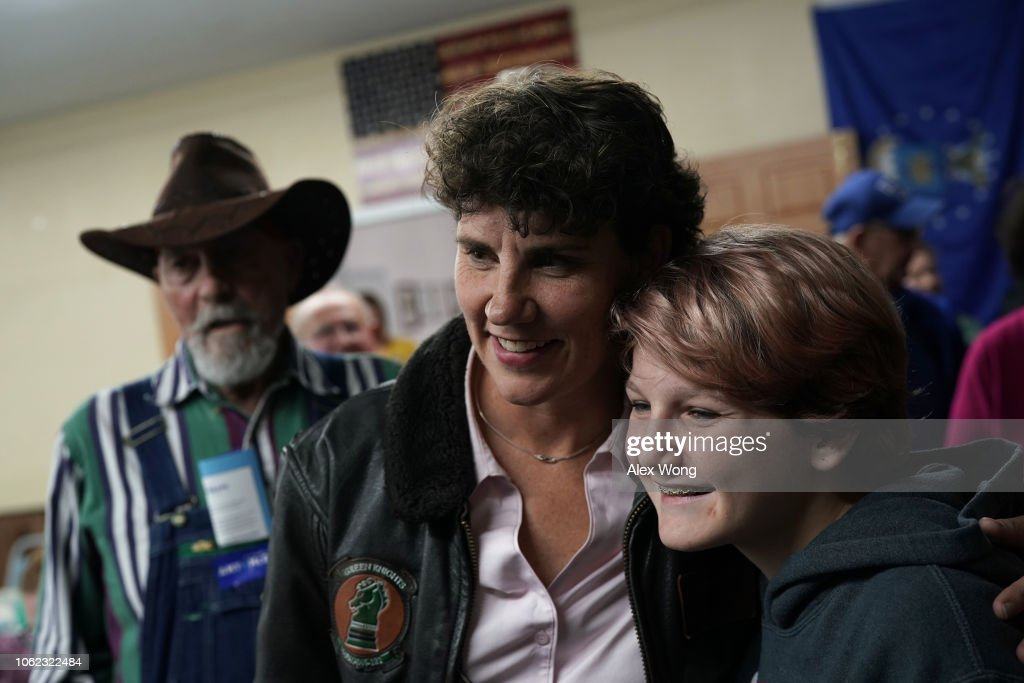 Kentucky Democratic House Candidate Amy McGrath Campaigns In Montgomery County, Kentucky : News Photo