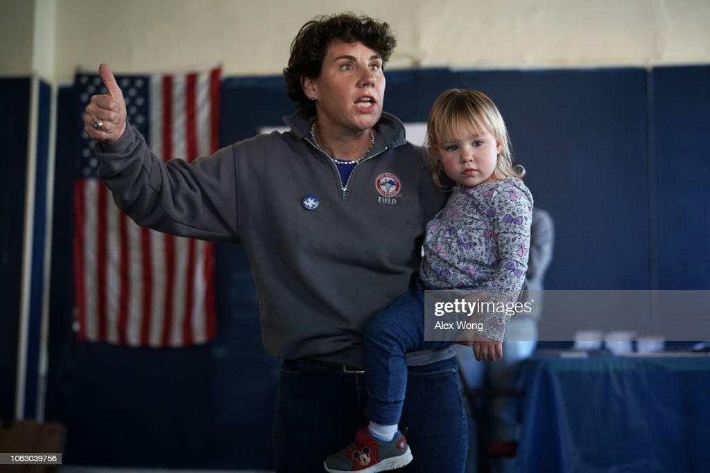 Kentucky Democratic House Candidate Amy McGrath Campaigns Ahead Of Midterm Election : News Photo