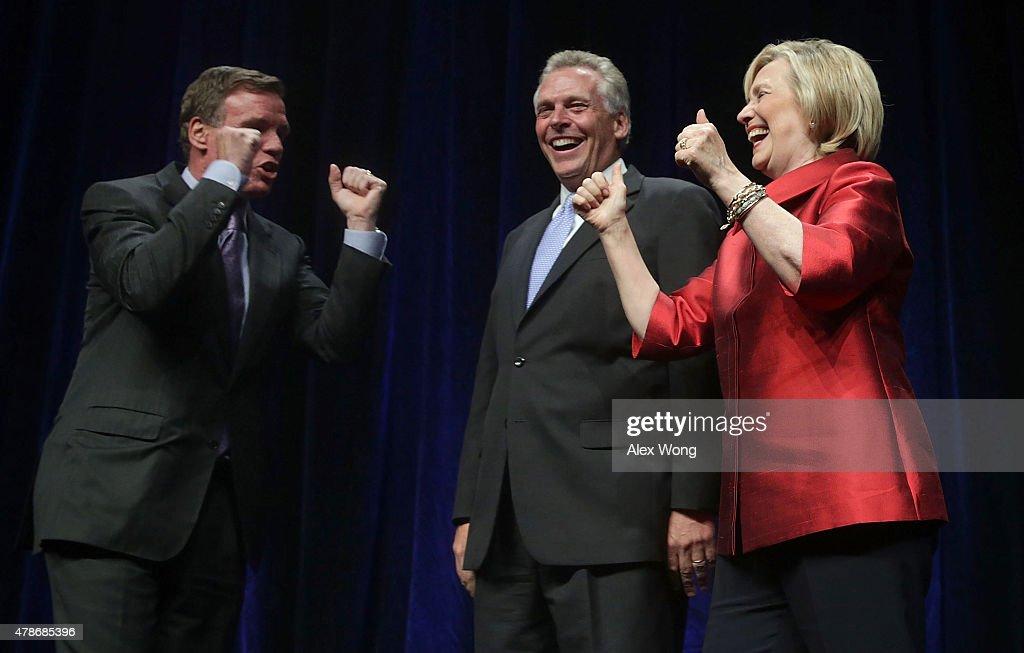Hillary Clinton Addresses Virginia Democratic Party's Annual Jefferson-Jackson Party Dinner : News Photo