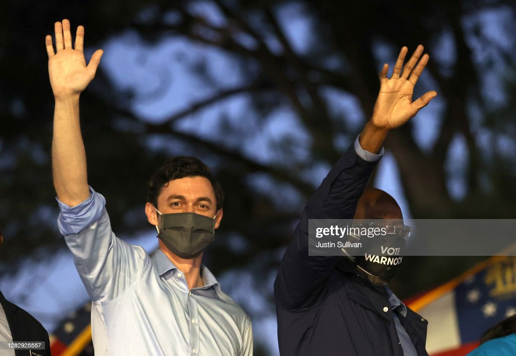 Democratic Congressional Candidates Hold Get-Out-The-Vote Rally In Columbus, GA : ニュース写真