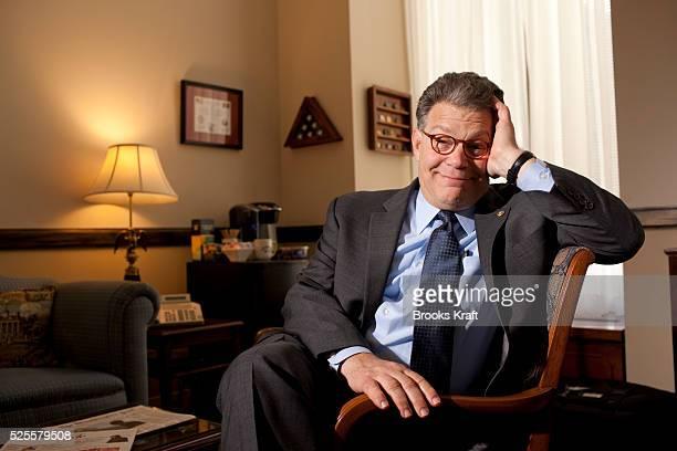 Democratic US Senator for Minnesota Al Franken in his Capitol Hill office in Washington