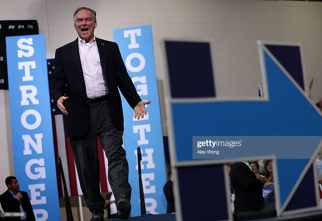 Democratic VP Candidate Tim Kaine Holds Campaign Rally In Richmond, VA