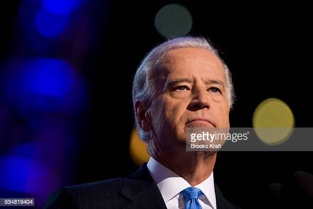 Democratic vice presidential nominee Sen Joseph Biden addresses the Democratic National Convention 2008 at the Pepsi Center in Denver Colorado