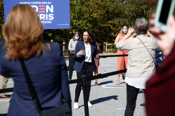 NC: Democratic Vice Presidential Candidate Kamala Harris Campaigns In North Carolina