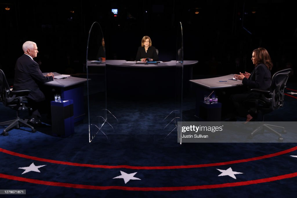 Mike Pence And Kamala Harris Take Part In Vice Presidential Debate : News Photo