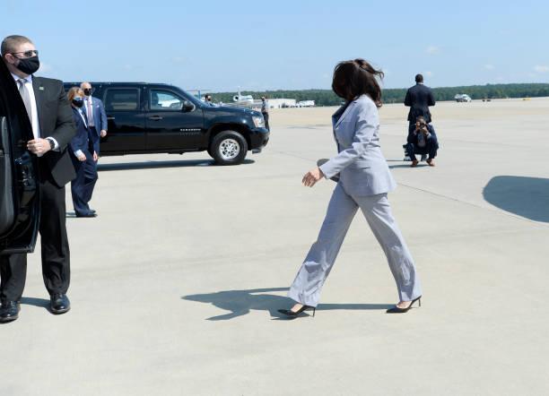NC: Democratic Vice Presidential Nominee Kamala Harris Campaigns In Raleigh