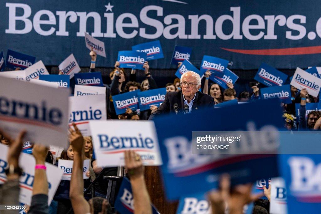 US-POLITICS-VOTE-SANDERS-Democrats : News Photo