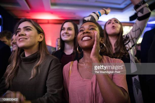Democrats celebrate election wins at the Democratic Caucus Election Night Event at the Hyatt Regency in Washington DC November 6 2018