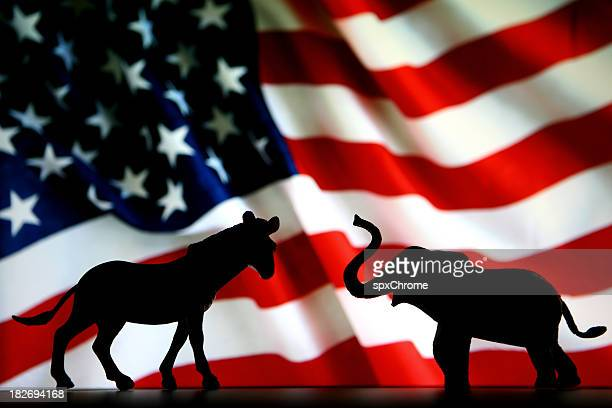 democrats vs republicans - republican party stock pictures, royalty-free photos & images