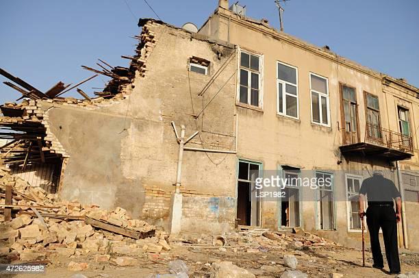Demolished houses. Baku Azerbaijan.