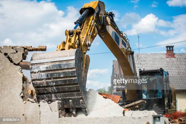 demolishing building - demolishing stock pictures, royalty-free photos & images