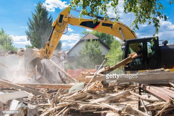 Demolishing building