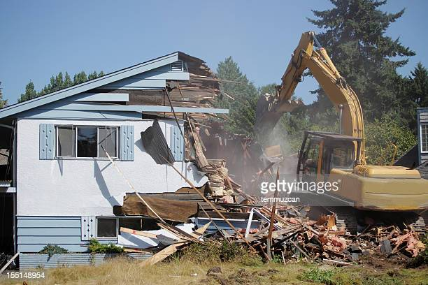 demolishing - house collapsing stock pictures, royalty-free photos & images