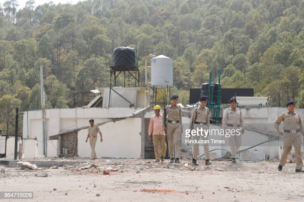 Demolition drive in Narayni guest house on May 4 2018 in Kasouli India The police arrested Vijay Singh accused of killing Assistant Town Planner...