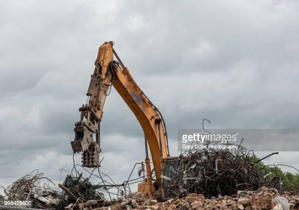 demolition equipment - destruction stock pictures, royalty-free photos & images