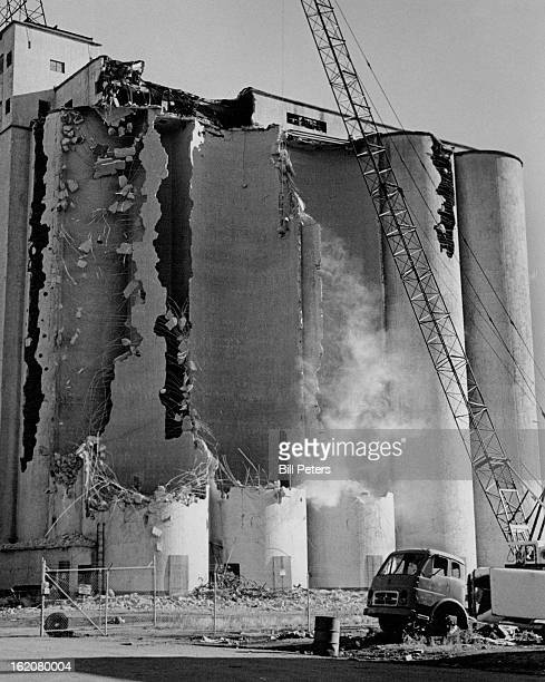 JUL 11 1973 Demolition Is Under Way On Hungarian Flour Mill 8th And Wazee Sts The mill and its concrete silos are being torn down so Denver Urban...