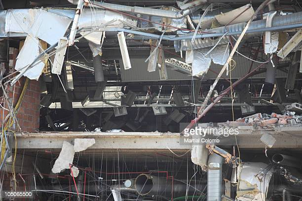 demolition of a building - martial stock pictures, royalty-free photos & images