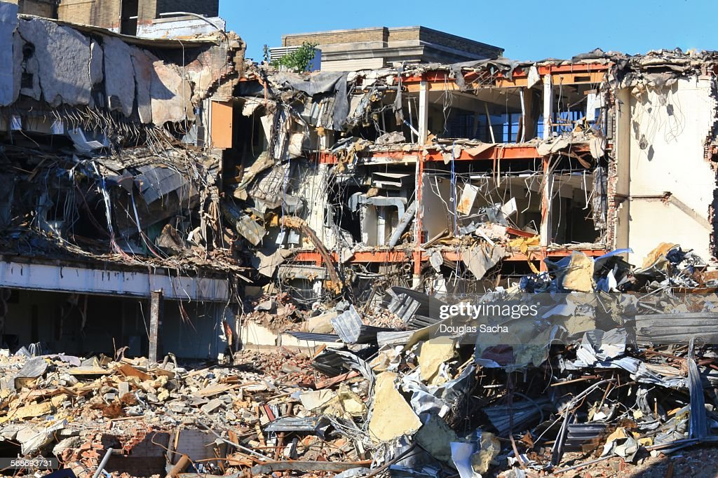 Demolition of a building : Stock Photo