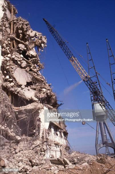 demolition of grain warehouse Royal Docks London