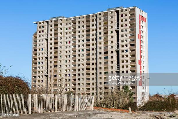 demolition - council flat stock pictures, royalty-free photos & images