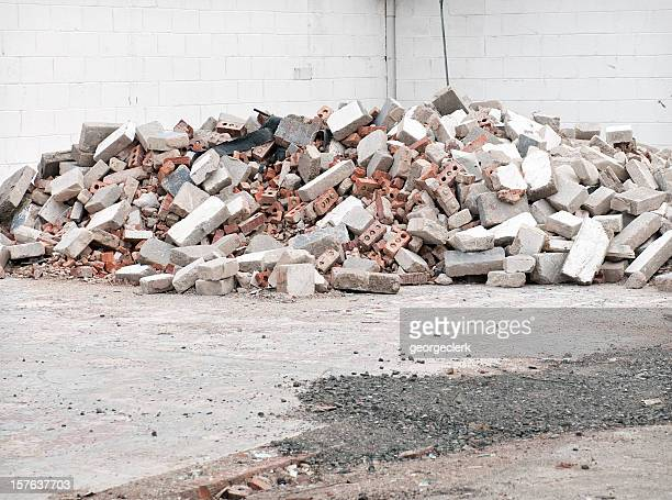 demolition rubble - demolishing stock pictures, royalty-free photos & images