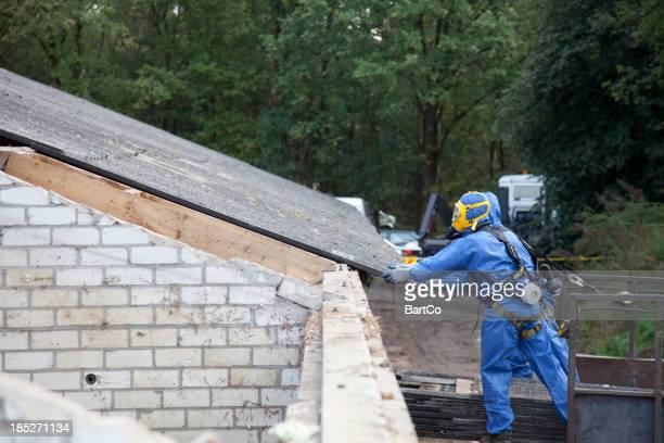 Demolition site, remove asbestos