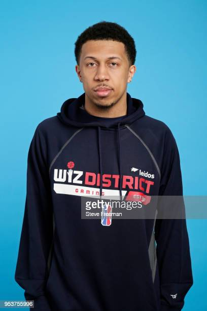 Demon JT of Wizards District Gaming poses for a head shot during the NBA 2K League media day on May 2 2018 at NBA Headquarters in New York New York...