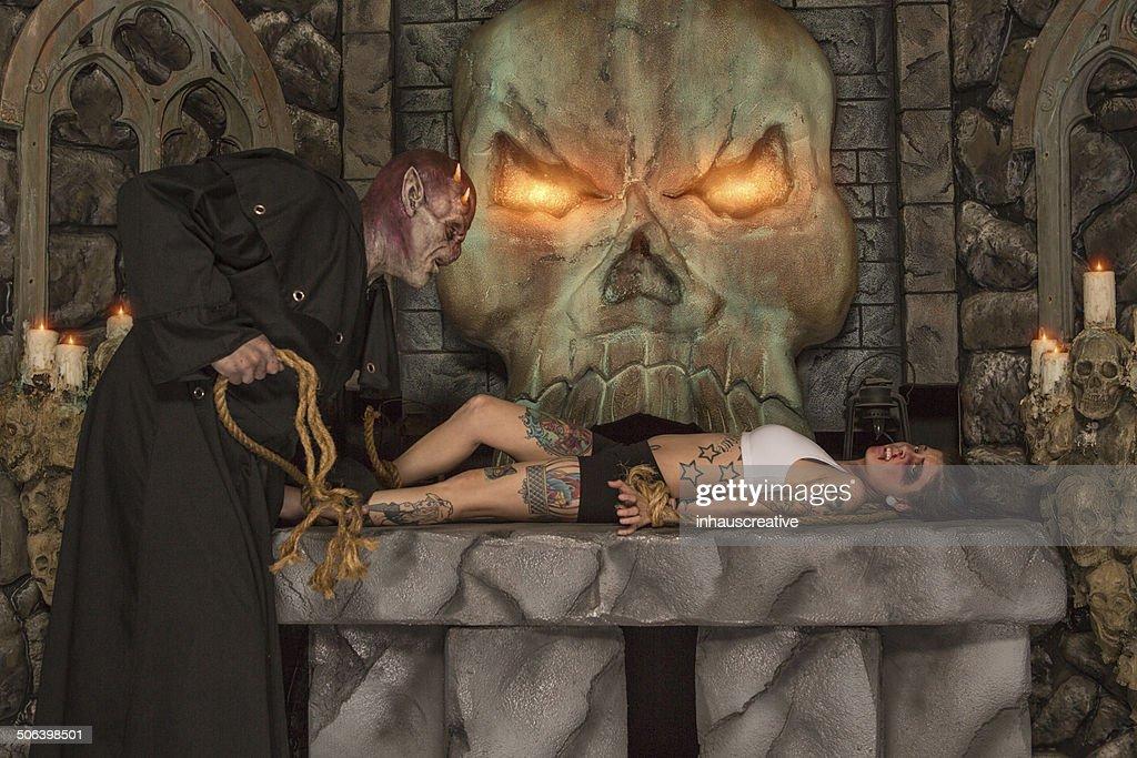 Demon Satanic Sacrificed : Stock Photo