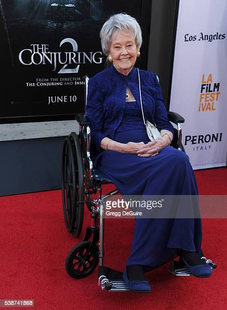 """Demonologist Lorraine Warren arrives at the 2016 Los Angeles Film Festival - """"The Conjuring 2"""" Premiere at TCL Chinese Theatre IMAX on June 7, 2016..."""