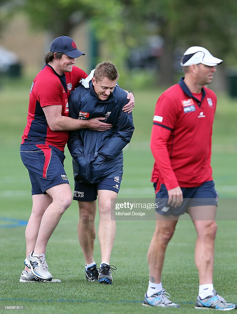 Melbourne Demons Press Conference & Training Session
