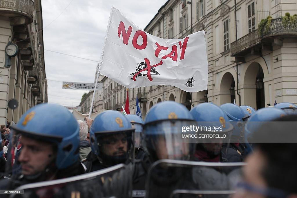 ITALY--MAYDAY-PROTEST : News Photo