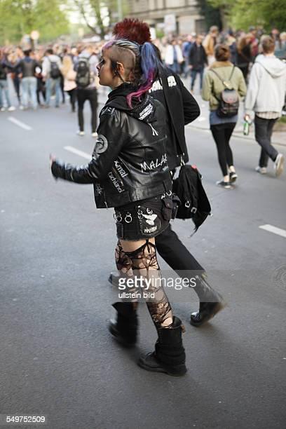 Demonstration 1. Mai in Berlin, Punks