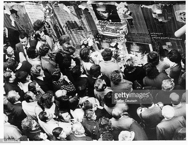 Demonstration after the abduction of the Italian Christian democratic leader Aldo Moro by the red Brigade.