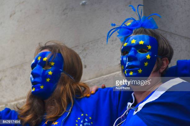 A demonstration against Brexit took place near the Houses of Parliament in London on September 5 2017 The process to leave the European Union is...